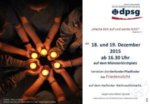 Friedenslicht 2015